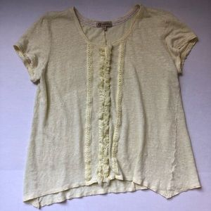 Democracy Tee with Ruffles Size Large